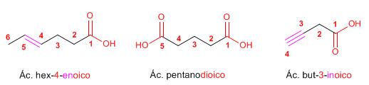 nomenclatura ácidos carboxílicos