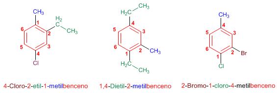 problemas nomenclatura benceno